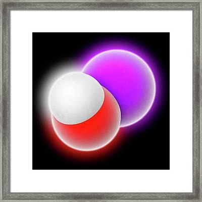 Sodium Hydroxide Molecule Framed Print by Laguna Design