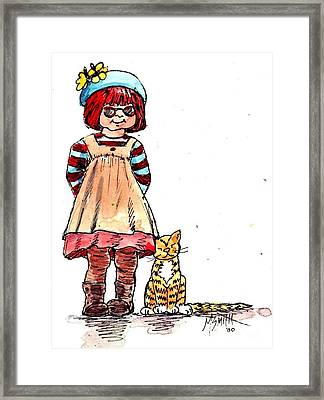 Sofie Framed Print by Marilyn Smith