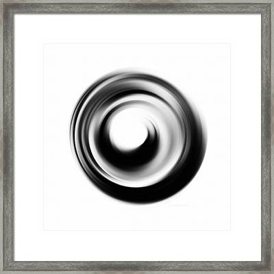 Soft Black Enso - Art By Sharon Cummings Framed Print by Sharon Cummings
