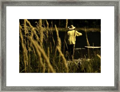 Soft Cast Framed Print by Ron White