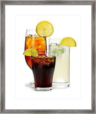 Soft Drinks Framed Print by Elena Elisseeva
