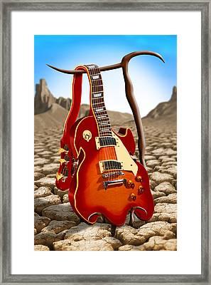 Soft Guitar Framed Print by Mike McGlothlen