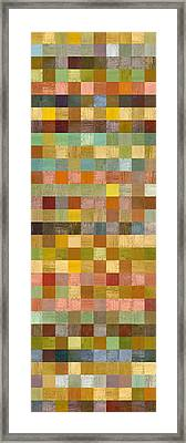 Soft Palette Rustic Wood Series Collage Lll Framed Print by Michelle Calkins