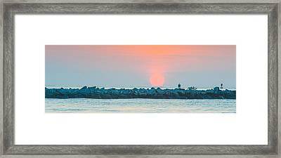 Soft Sunrise At Jetty Park Framed Print by Cliff C Morris Jr