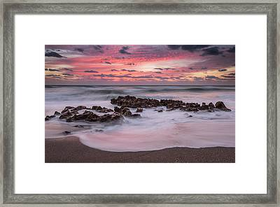 Soft Sunrise Framed Print by Mike Lang