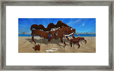 Softe Grand Piano Left Handed Panoramic Framed Print by Mike McGlothlen