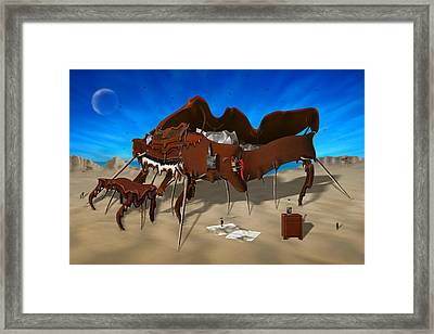 Softe Grand Piano Se Framed Print by Mike McGlothlen