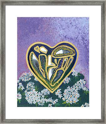 Softened Heart Best Reflections Energy Collection Framed Print by Catt Kyriacou