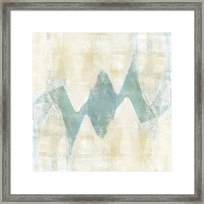 Softly Green 1 Square Framed Print by Carol Leigh