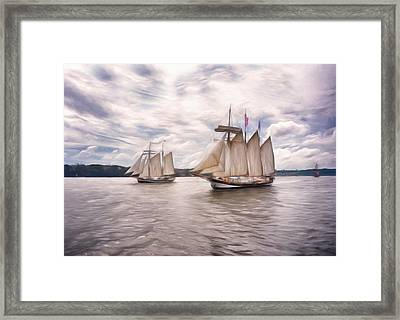 Softly Sailing Framed Print by Georgiana Romanovna