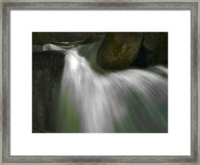 Softwater Of Cascade Creek Framed Print by Bill Gallagher