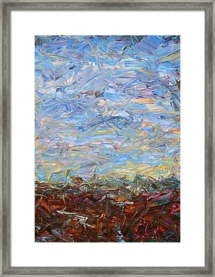 Soil Turmoil Framed Print by James W Johnson