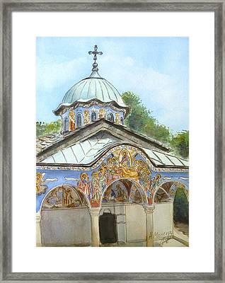 Sokolski Monastery Bulgaria Framed Print by Henrieta Maneva