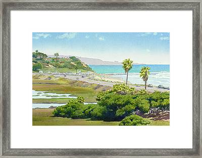 Solana Beach California Framed Print by Mary Helmreich