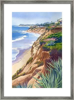 Solana Beach Ocean View Framed Print by Mary Helmreich