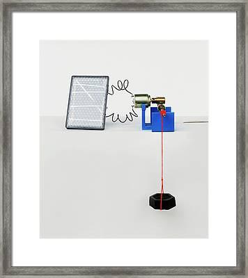 Solar Panel Generating Power Framed Print by Dorling Kindersley/uig