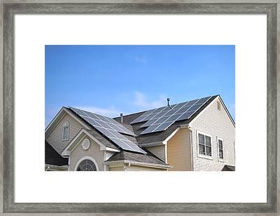 Solar Panels  Framed Print by Olivier Le Queinec