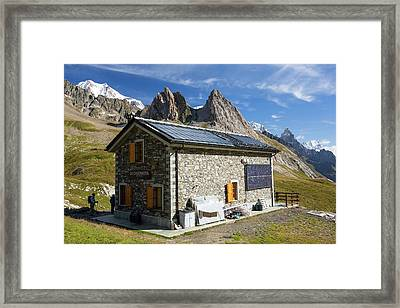 Solar Panels On A Visitor Centre Framed Print by Ashley Cooper