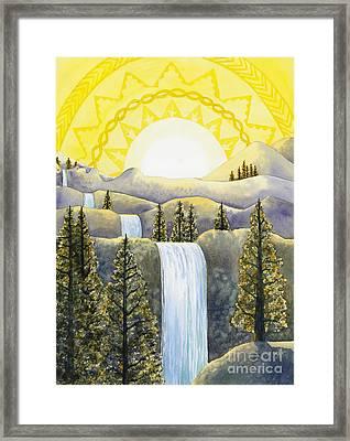 Solar Plexus Chakra Framed Print by Catherine G McElroy