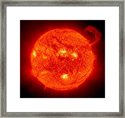 Solar Prominence Framed Print by Benjamin Yeager