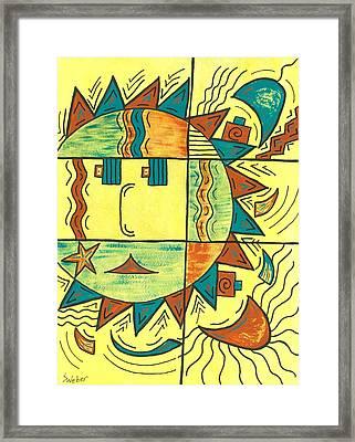 Solar Southwest Framed Print by Susie WEBER