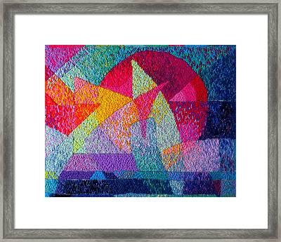 Solar Tapestry Framed Print by Diane Fine