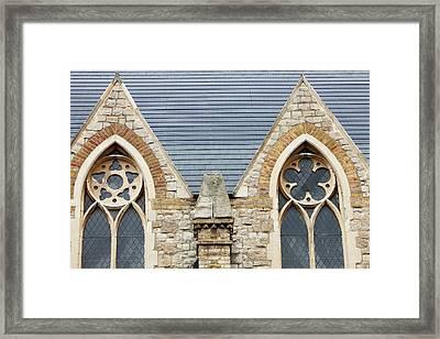 Solar Tiles On A Church Framed Print by Ashley Cooper