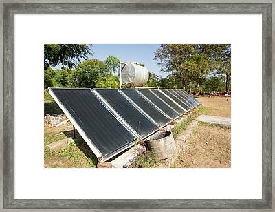 Solar Water Heating Panels Framed Print by Ashley Cooper
