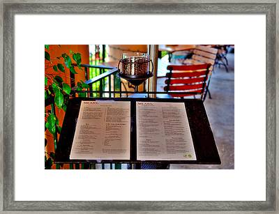 Solare Ristorante Framed Print by See My  Photos