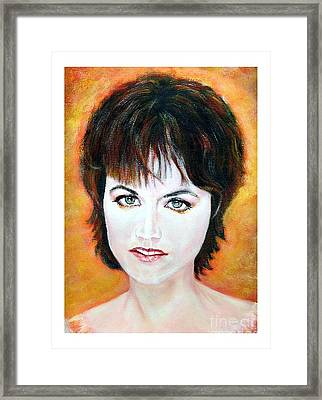 Dolores O Riordan Cranberries Framed Print by Liam O Conaire