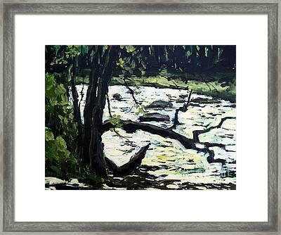 Sold Eel River From The Sandbar Framed Print by Charlie Spear