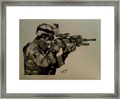 Soldier Colt Situation Afghanistan Framed Print by Subhash Mathew