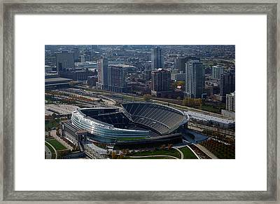 Soldier Field Chicago Sports 05 Framed Print by Thomas Woolworth