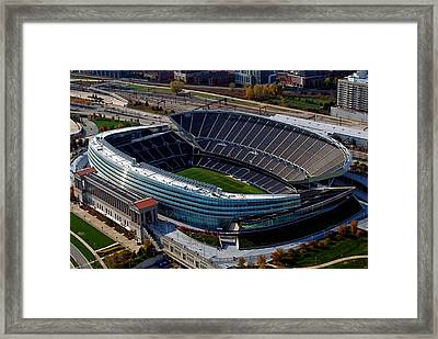 Soldier Field Chicago Sports 06 Framed Print by Thomas Woolworth