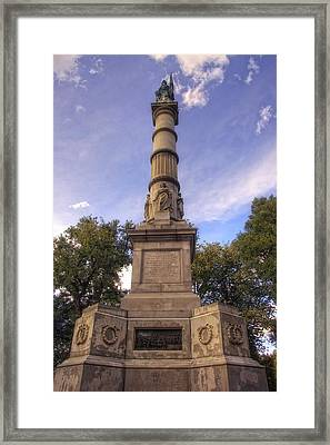 Soldiers And Sailors Monument - Boston Framed Print by Joann Vitali