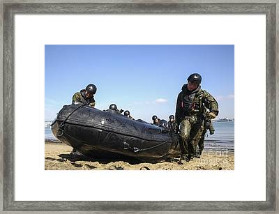 Soldiers Of The Japan Ground Framed Print by Stocktrek Images