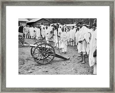 Soldiers Salute Haile Selassie Framed Print by Underwood Archives