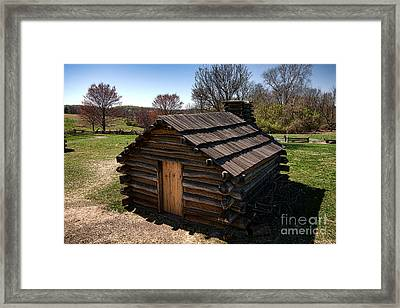 Soldiers Wood Cabin  Framed Print by Olivier Le Queinec