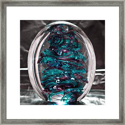 Solid Glass Sculpture Rb3 Framed Print by David Patterson