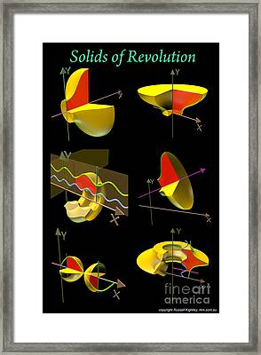 Solids Of Revolution Poster Framed Print by Russell Kightley