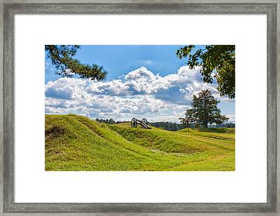 Solitary Cannon At Yorktown Framed Print by John M Bailey