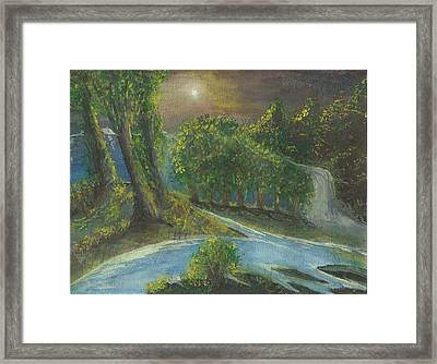 Solitary Midnight Framed Print by Douglas Beatenhead