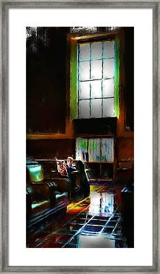 Solitary Road Framed Print by Cary Shapiro