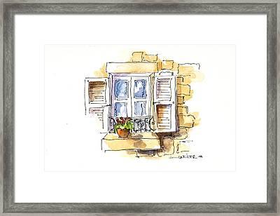 Solo Greeting Framed Print by Barbara Wirth