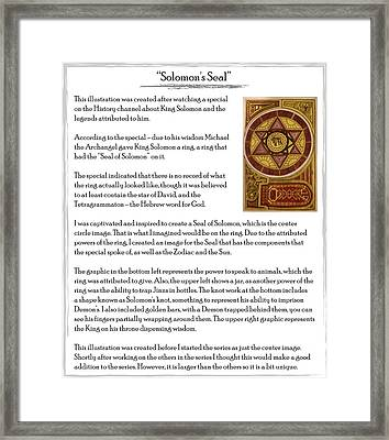 Soloman's Seal Story Framed Print by Michael Lee