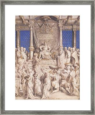 Solomon And The Queen Of Sheba Framed Print by
