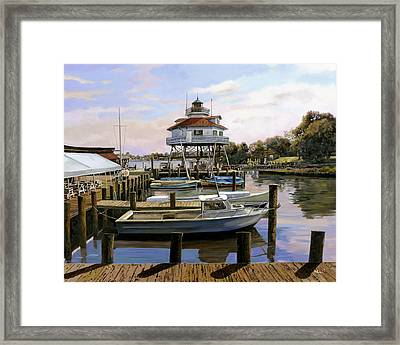 Solomon's Island Framed Print by Guido Borelli