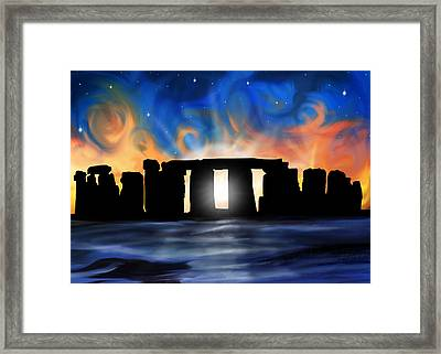 Solstice At Stonehenge  Framed Print by David Kyte