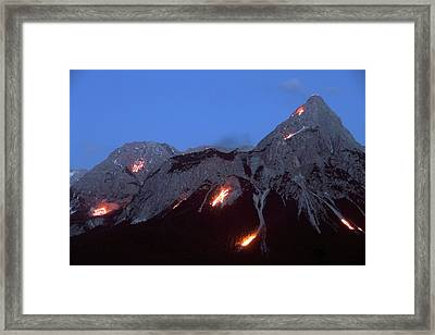 Solstice Celebrations Framed Print by Martin Rietze