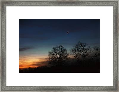 Solstice Moon Framed Print by Bill Wakeley
